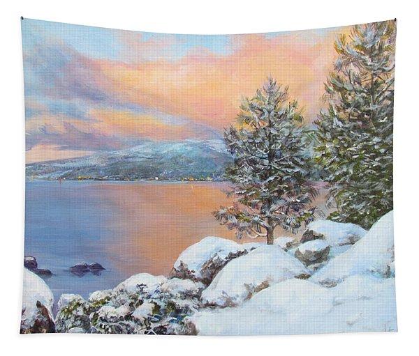 Tahoe Winter Colors Tapestry
