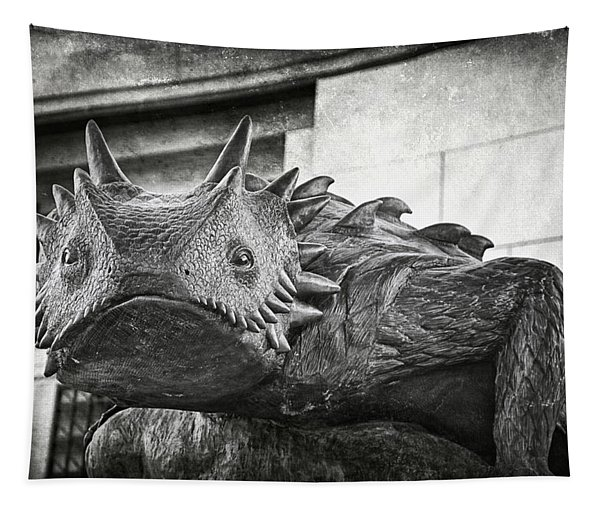 Tcu Horned Frog Bw Tapestry