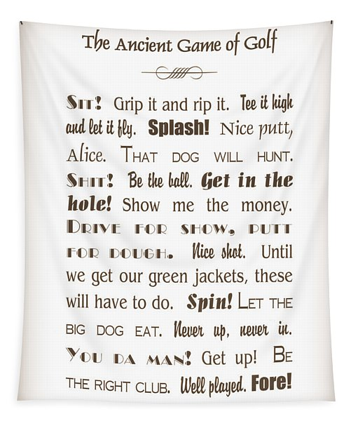 The Ancient Game Of Golf - Sepia Tapestry