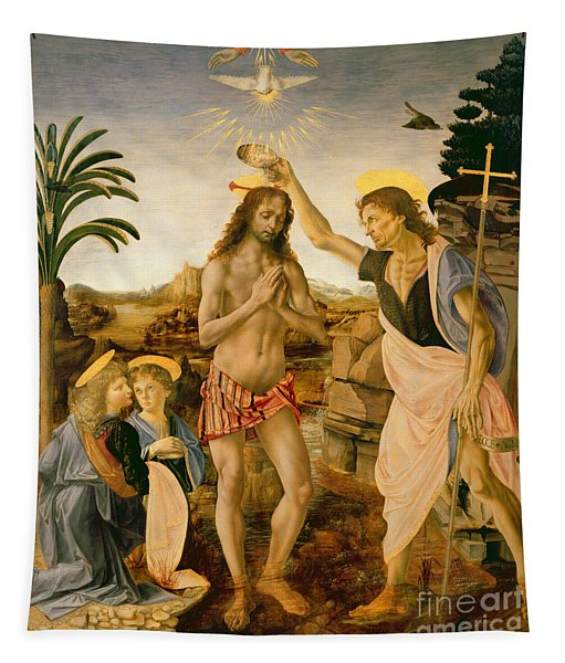 The Baptism Of Christ By John The Baptist Tapestry