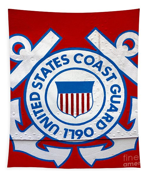 The Coast Guard Shield Tapestry