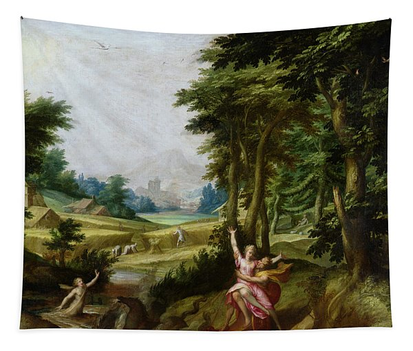The Rape Of Persephone Oil On Canvas Tapestry