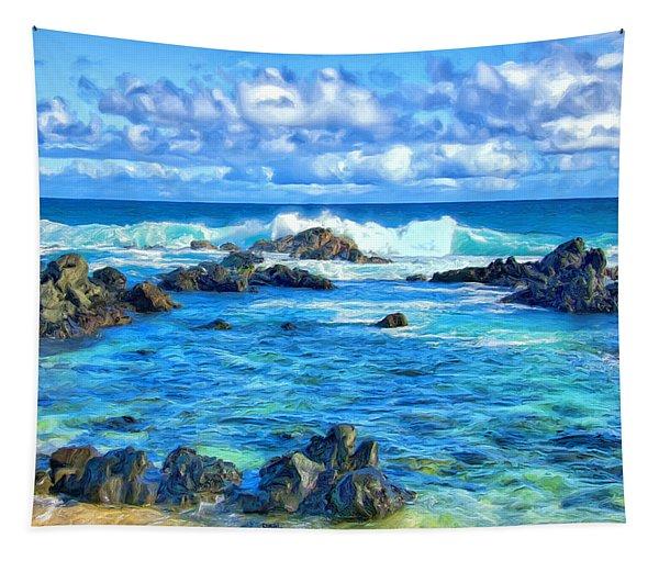 Tide Pool Near Hana Maui Tapestry