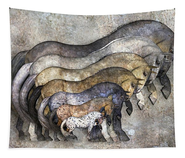 Traditional Horses Tapestry