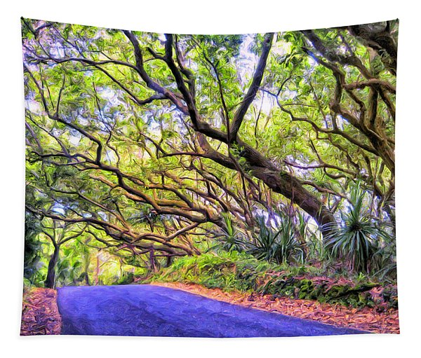 Tree Tunnel On The Big Island Tapestry