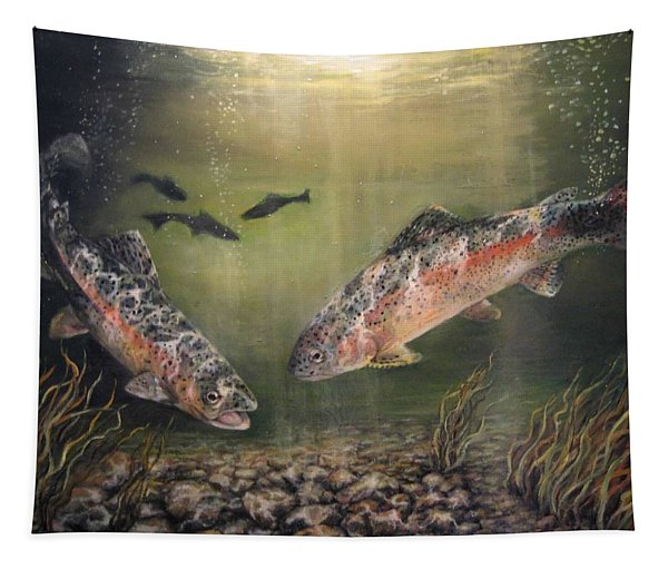 Two Rainbow Trout Tapestry