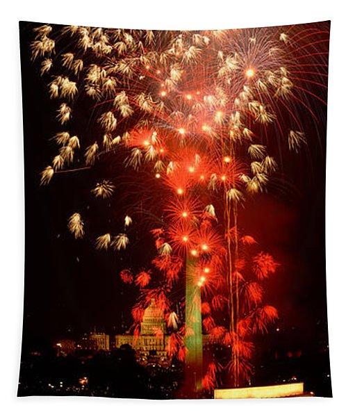 Usa, Washington Dc, Fireworks Tapestry