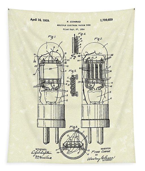 Vacuum Tube 1929 Patent Art Tapestry