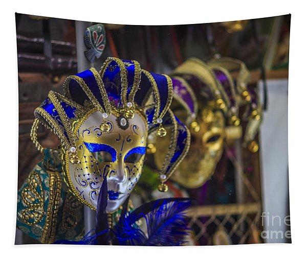 Venetian Carnival Masks Cadiz Spain Tapestry
