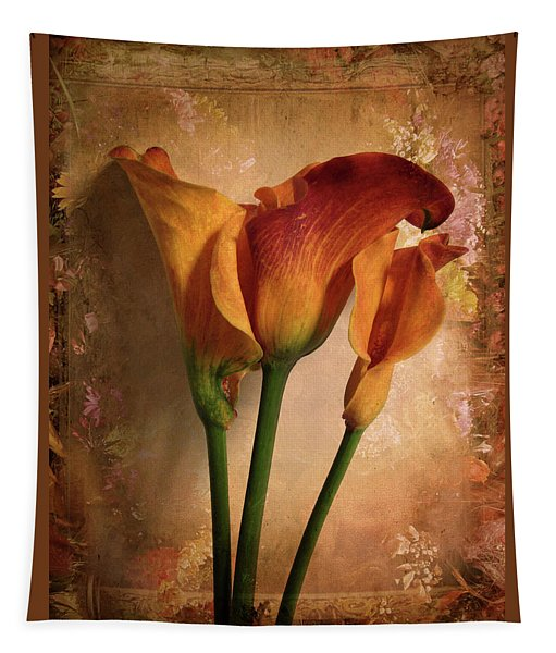 Vintage Calla Lily Tapestry