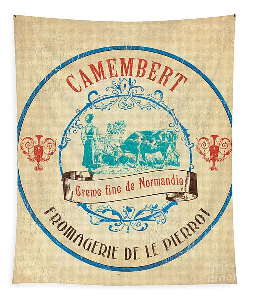 Vintage Cheese Label 3 Tapestry