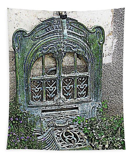 Vintage Garden Grate Tapestry