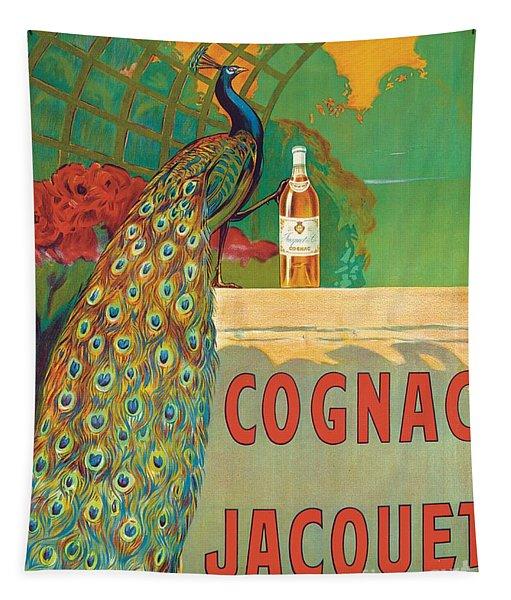 Vintage Poster Advertising Cognac Tapestry