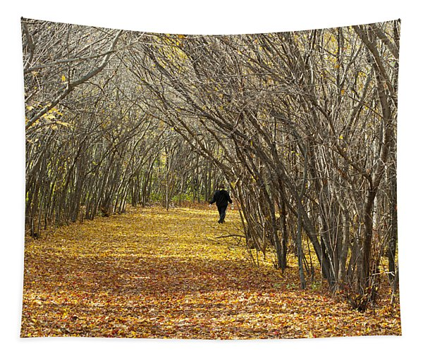 Walking A Golden Road Tapestry