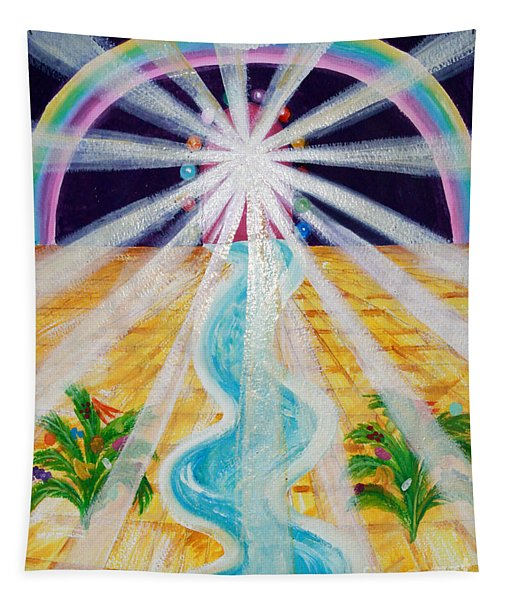 Where The Road Is Paved In Gold Tapestry