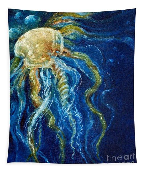 Wild Jellyfish Reflection Tapestry