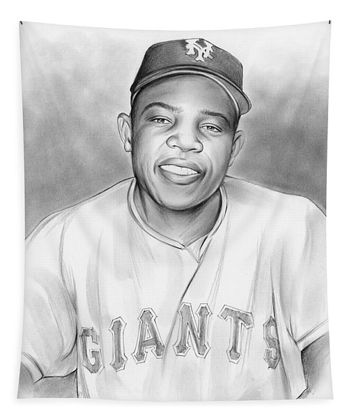 Willie Mays Tapestry