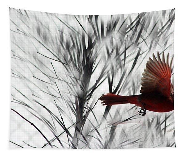 Winter Cardinal Tapestry