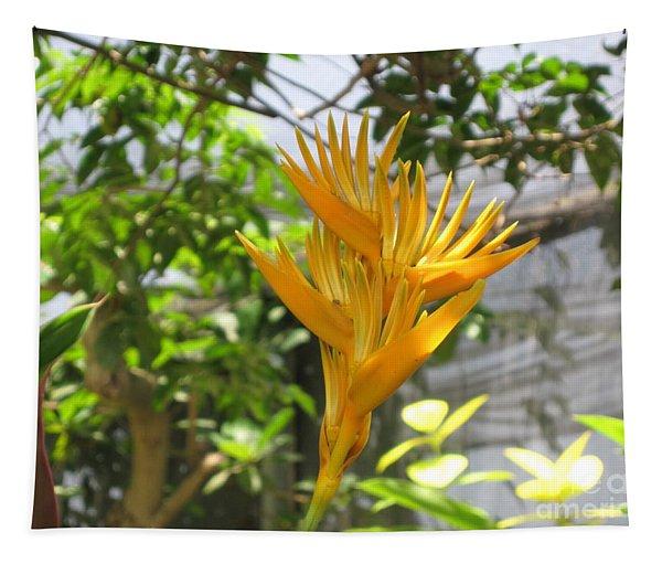 Yellow Bird Of Paradise Tapestry