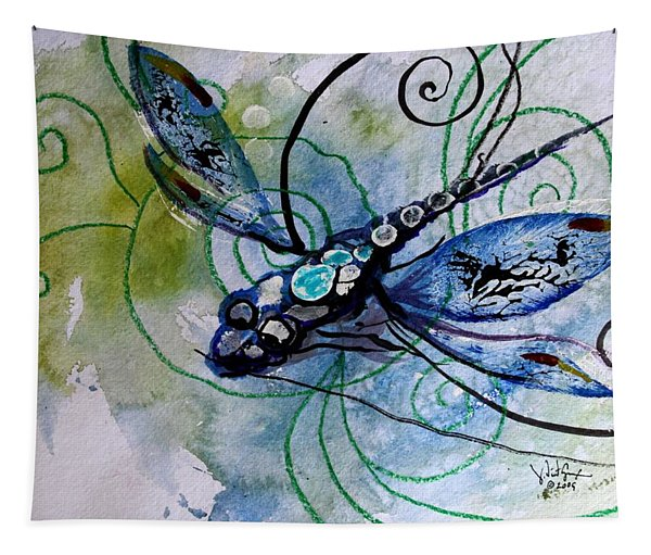Abstract Dragonfly 10 Tapestry