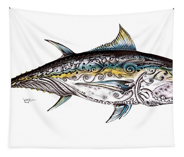 Beautiful Blue Fin Tapestry
