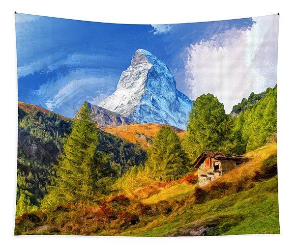 Below The Matterhorn Tapestry