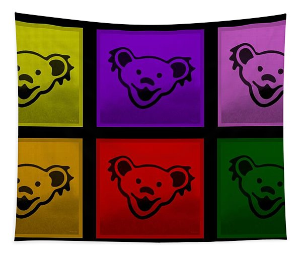 Greatful Dead Dancing Bears In Multi Colors Tapestry