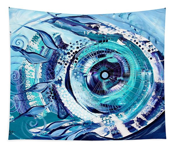 Icehole Fish Tapestry
