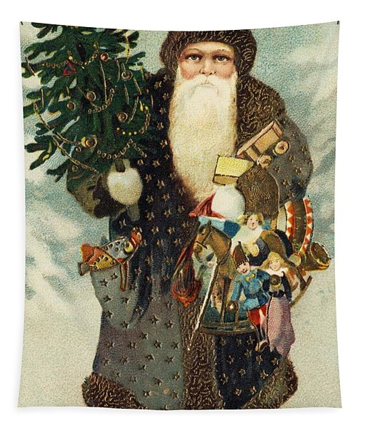 Santa Claus With Toys Tapestry