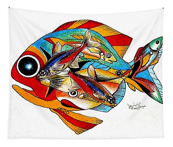 Seven Fish Tapestry