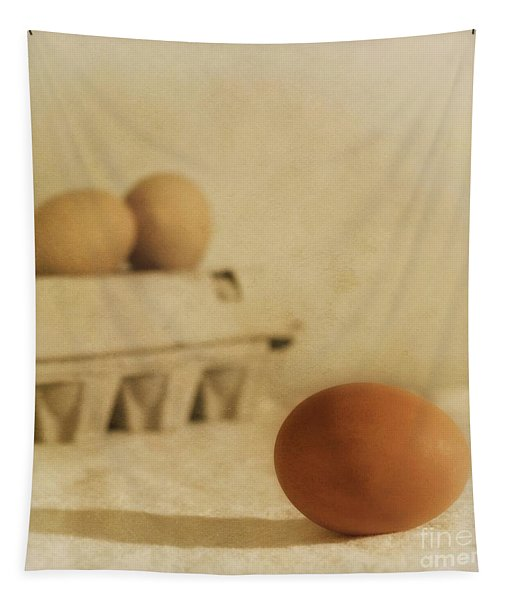 Three Eggs And A Egg Box Tapestry