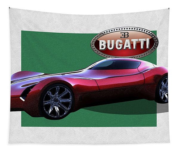 2025 Bugatti Aerolithe Concept With 3 D Badge  Tapestry