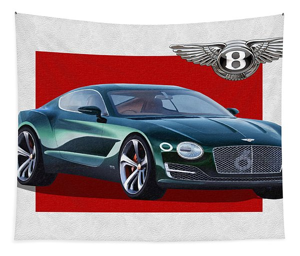 Bentley E X P  10 Speed 6 With  3 D  Badge  Tapestry
