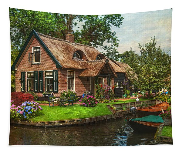 Fairytale House. Giethoorn. Venice Of The North Tapestry