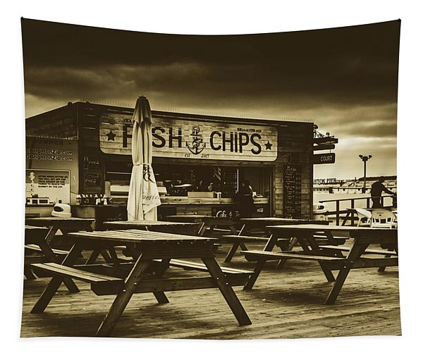 Fish And Chips Tapestry