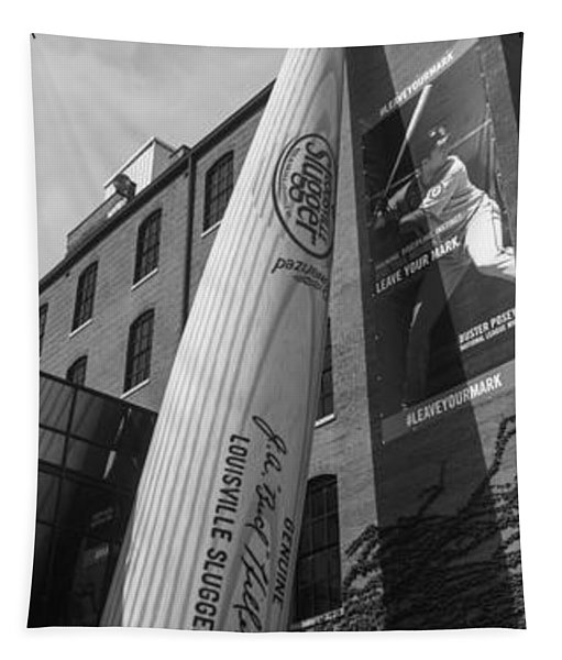 Giant Baseball Bat Adorns Tapestry