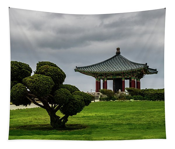 Korean Bell Of Friendship Tapestry