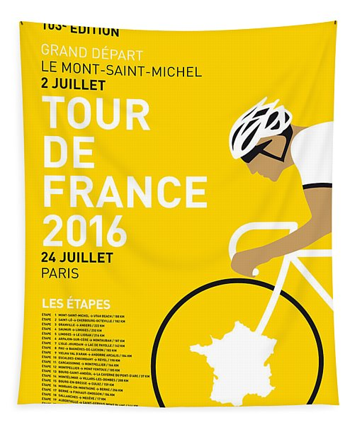 My Tour De France Minimal Poster 2016 Tapestry