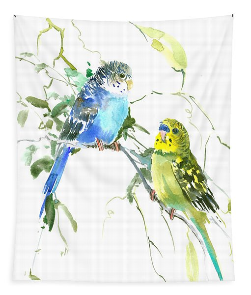 Parakeets Tapestry