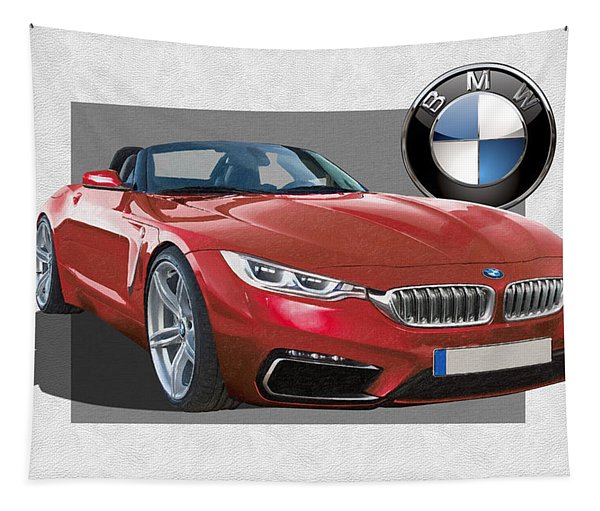 Red 2018 B M W  Z 5 With 3 D Badge  Tapestry