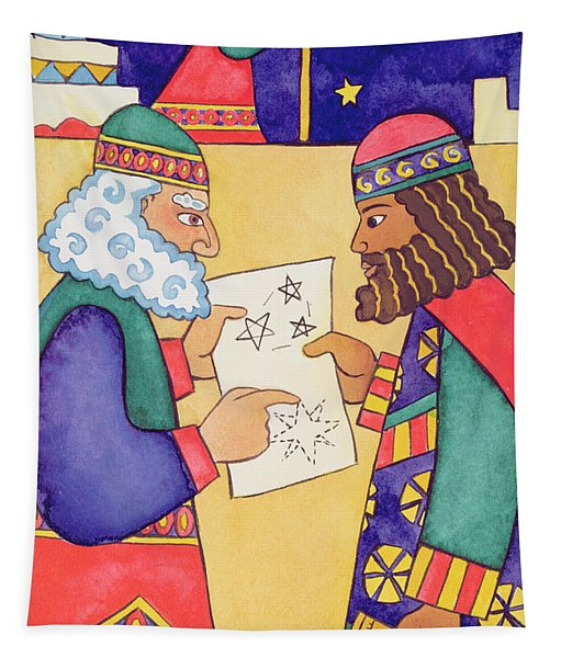 The Wise Men Looking For The Star Of Bethlehem Tapestry