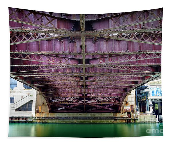 1136 Under The Dearborn Street Bridge Tapestry