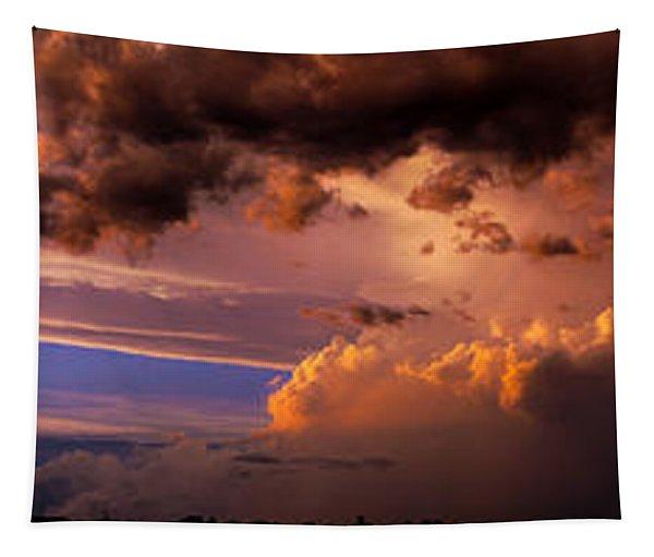 Tapestry featuring the photograph Nebraska Hp Supercell Sunset by NebraskaSC