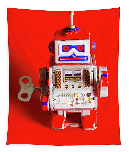 1970s Wind Up Dancing Robot Tapestry
