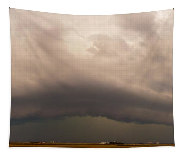 Tapestry featuring the photograph 3rd Storm Chase Of 2015 by NebraskaSC
