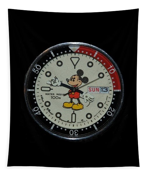 Mickey Mouse Watch Face Tapestry