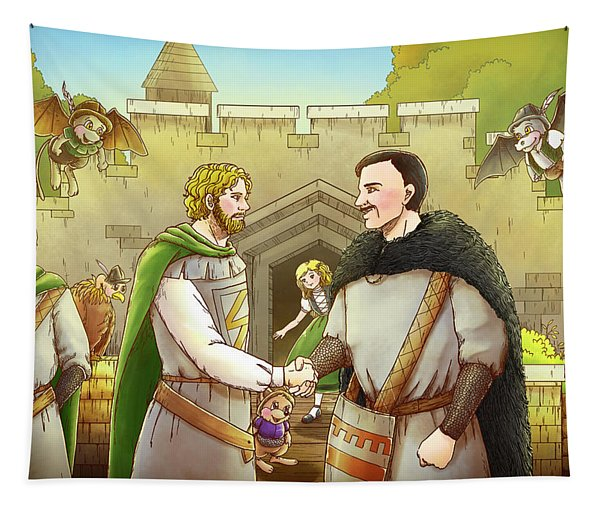 Robin Hood And The Captain Of The Guard Tapestry