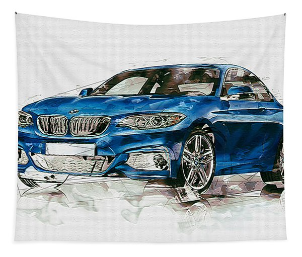 2014 B M W 2 Series Coupe With 3d Badge Tapestry
