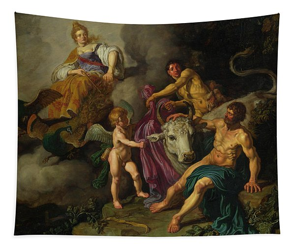 Juno Discovering Jupiter With Io Tapestry