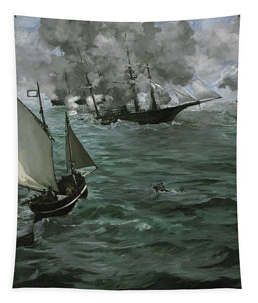 The Battle Of The U.s.s. Kearsarge And The C.s.s. Alabama Tapestry